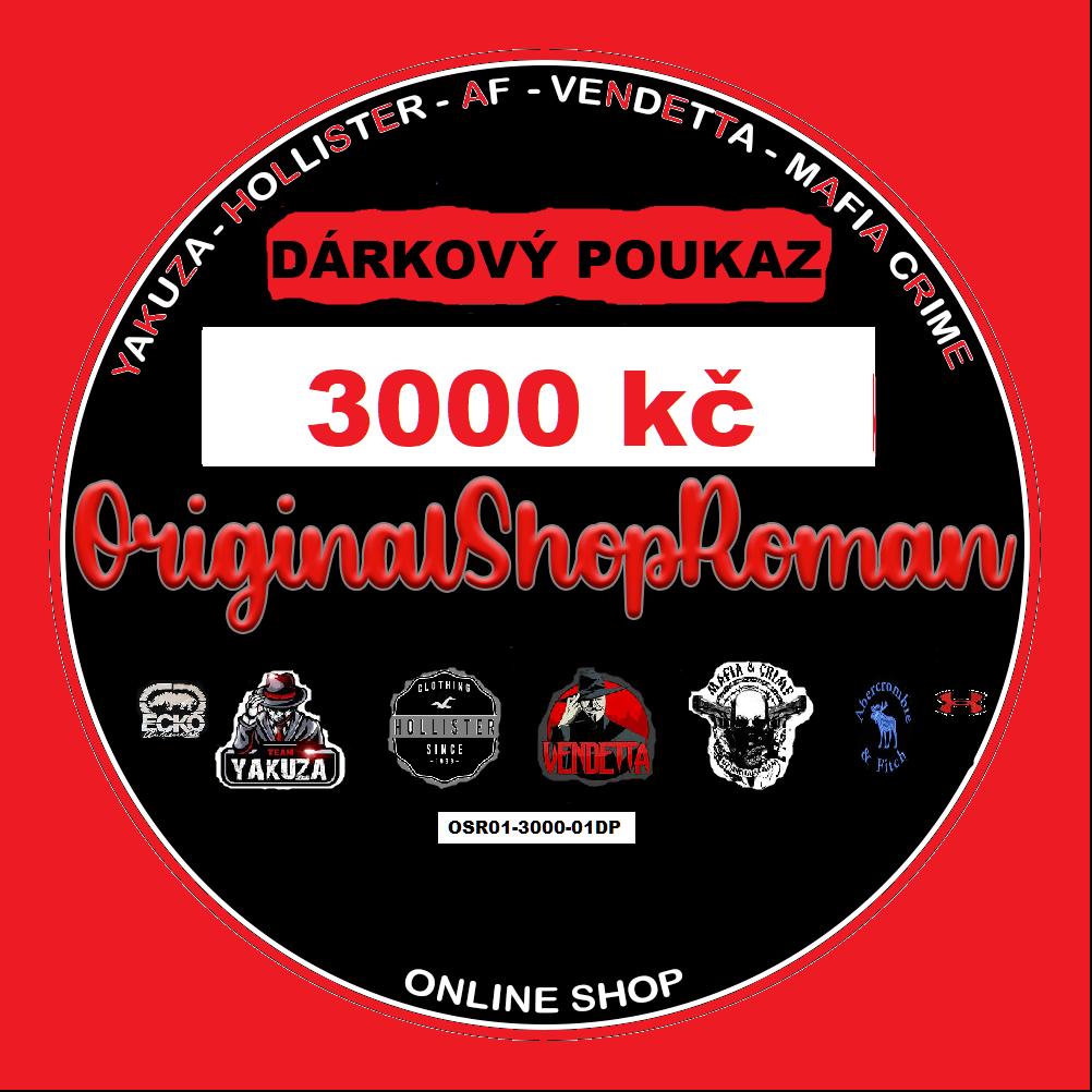 DÁRKOVÝ POUKAZ NA NÁKUP ZBOŽÍ  01- 3000 kč