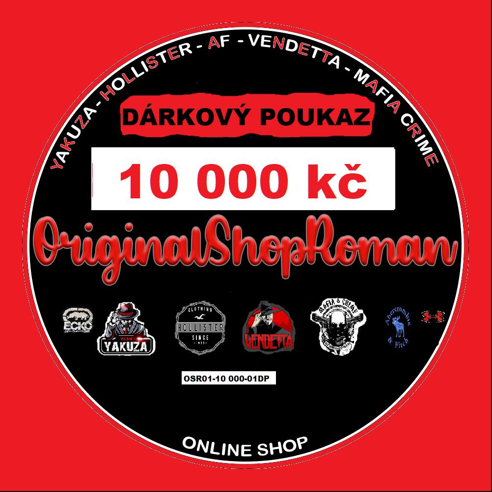 DÁRKOVÝ POUKAZ NA NÁKUP ZBOŽÍ  01- 10 000 kč
